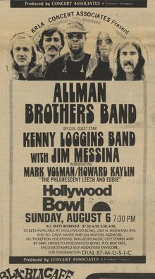 Allman Brothers Band at Hollywood Bowl