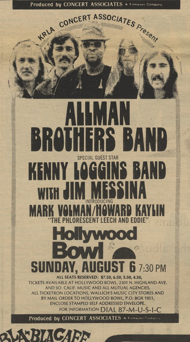 Allman Brothers Band at Hollywood Bowl