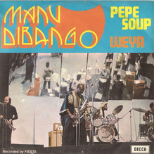 "Manu Dibango – ""Pepe Soup"" / ""Weya"" Italian single cover"