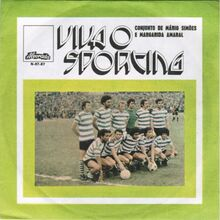 "Conjunto De Mário Simões e Margarida Amaral – ""Viva O Sporting"" single cover"