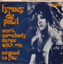 "Lynsey de Paul – ""Won't Somebody Dance With Me"" Dutch and Italian single covers"