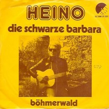 """Heino – """"Die schwarze Barbara"""" / """"Böhmerwald"""" Dutch single sleeve"""
