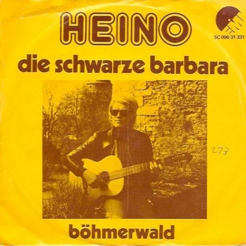 """Heino – """"Die schwarze Barbara"""" / """"Böhmerwald"""" Dutch single cover"""