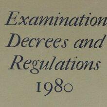"<cite>Examination Decrees and Regulations</cite> (""Grey Book""), University of Oxford"