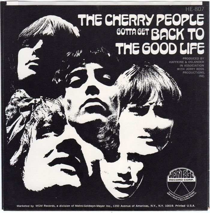 """""""Gotta Get Back (To The Good Life)""""/""""I'm The One Who Loves You"""", Heritage Record Comp. (HE-807), Oct. 1968"""