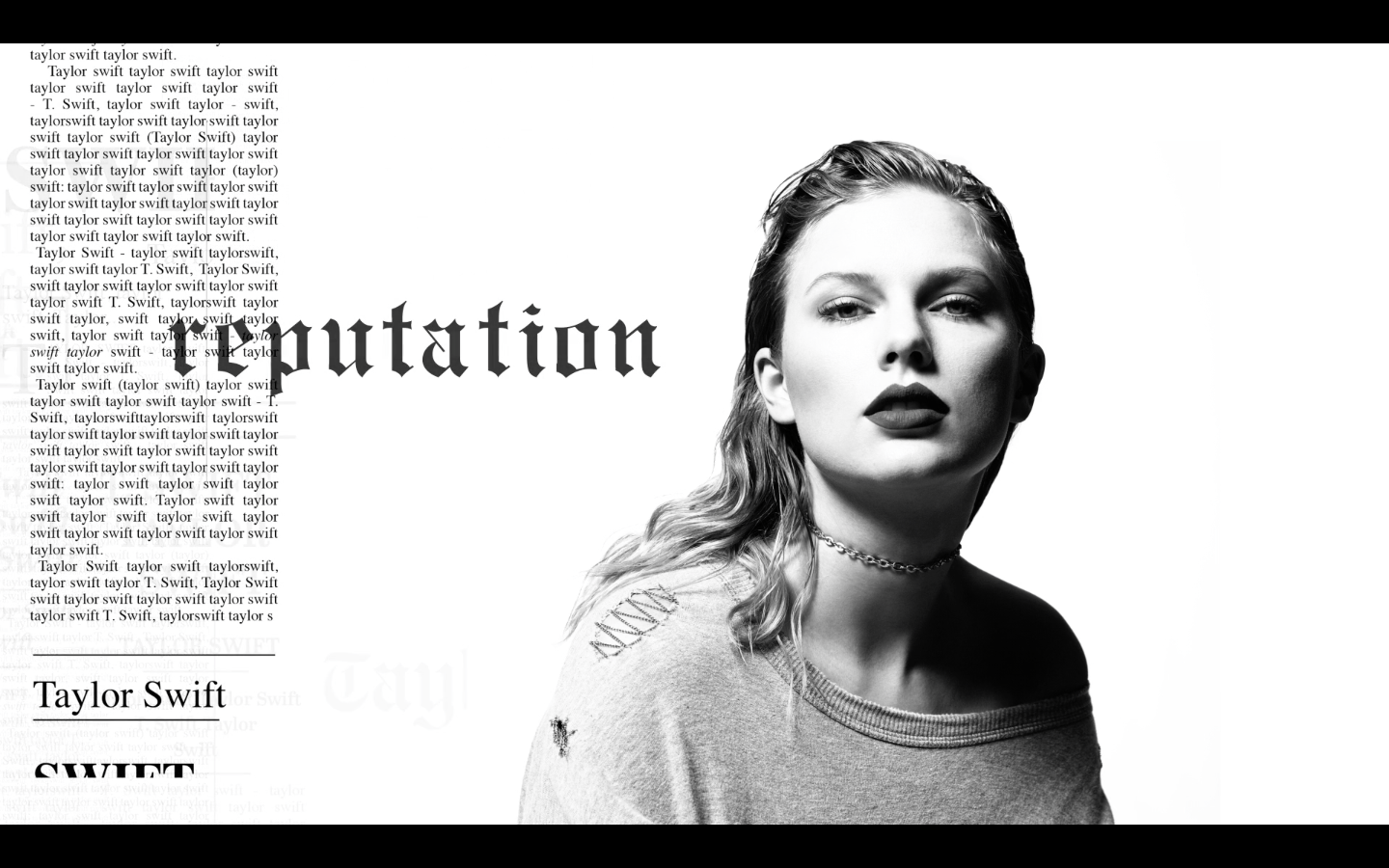 Taylor Swift Reputation Fonts In Use