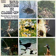 Victor C. Lewis ‎– <cite>Bird Sounds In Close-Up </cite>album art