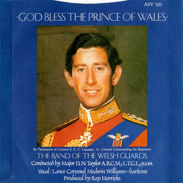 The Band Of The Welsh Guards ‎– God Bless The Prince Of Wales / The Princess of Wales 2