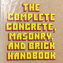 "<cite>The Complete Concrete, Masonry, and Brick Handbook</cite> – J.<span class=""nbsp"">&nbsp;</span>T.<span class=""nbsp"">&nbsp;</span>Adams"