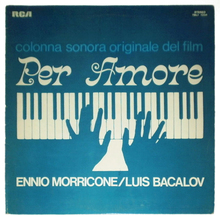 <cite>Per Amore</cite> movie posters and score