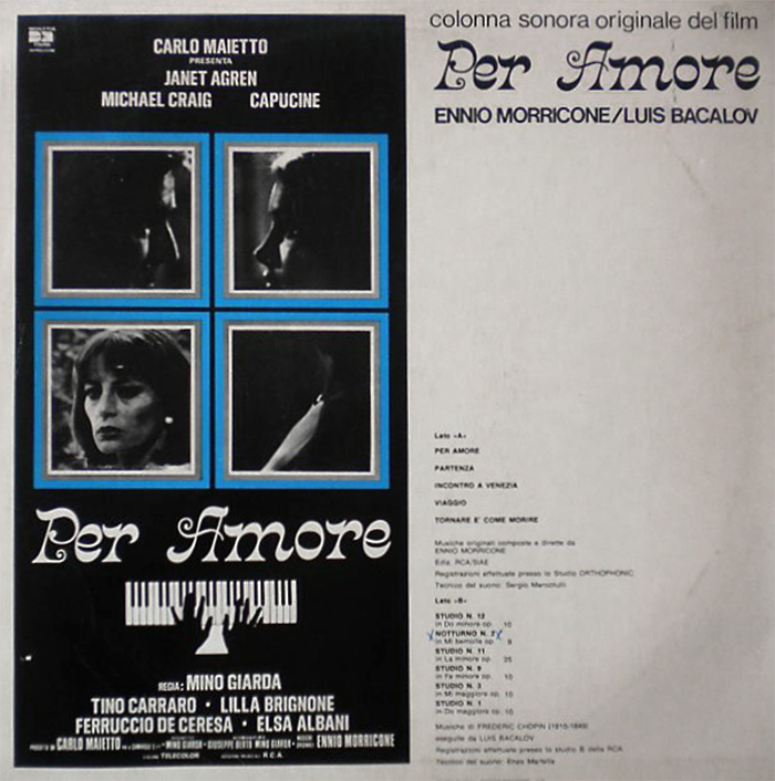 Backcover of the original vinyl record, featuring a reproduction of one of the posters