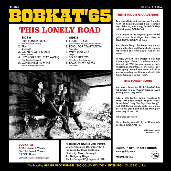 Bobkat'65 – This Lonely Road album art 2
