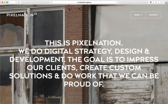 Pixelnation website 1