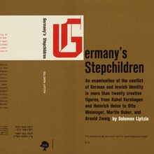 <cite>Germany's Stepchildren</cite> by Solomon Liptzin, Meridian Books and Jewish Publication Services
