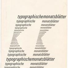 <cite>Typographische Monatsblätter</cite>, 1961 No. 10