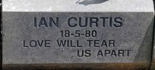 Ian Curtis' headstone