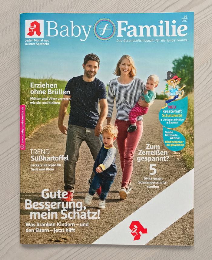 Baby & Familie magazine, 2017 redesign 1