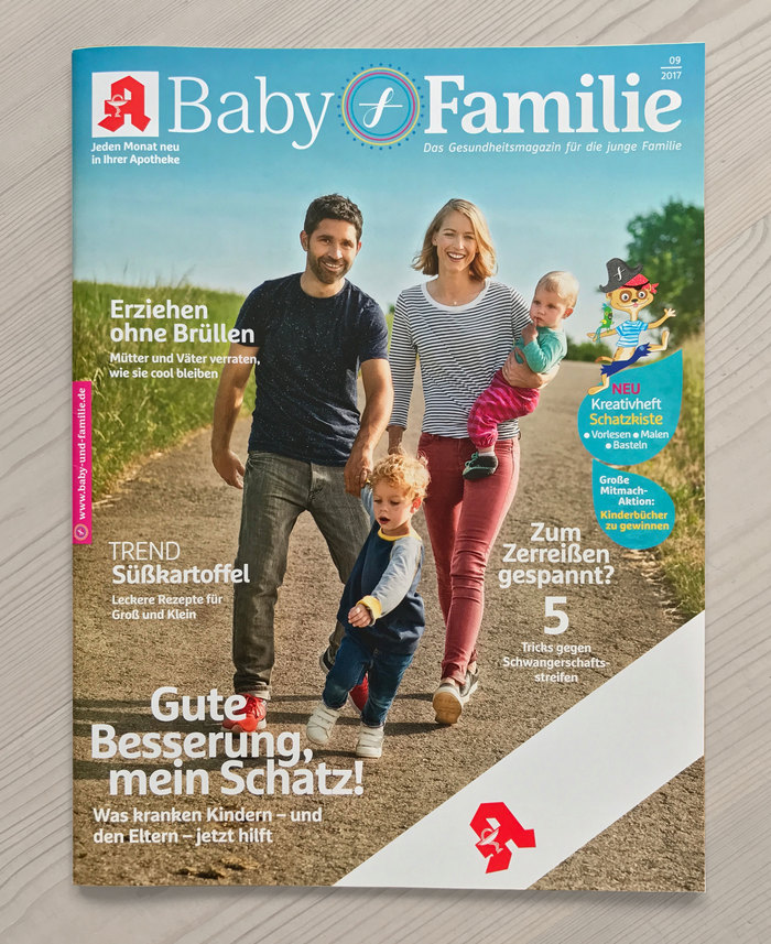 Baby & Familie magazine, 2017 redesign 1