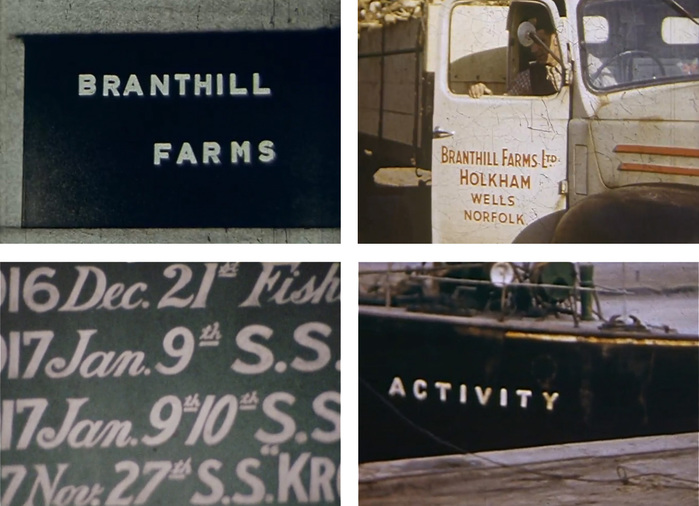 Stills from Norfolk Farming 1953, BFI film archive