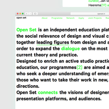Open Set website and reader