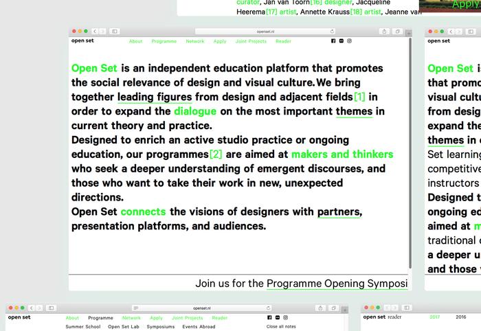 Open Set website and reader 1