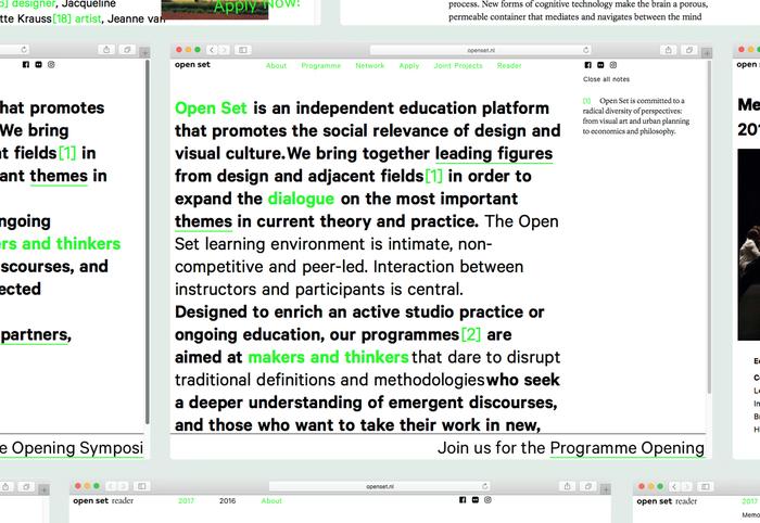 Open Set website and reader 2