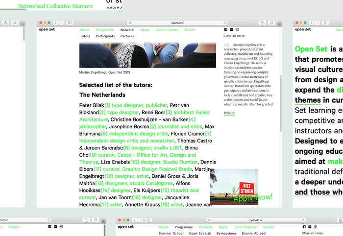 Open Set website and reader 4