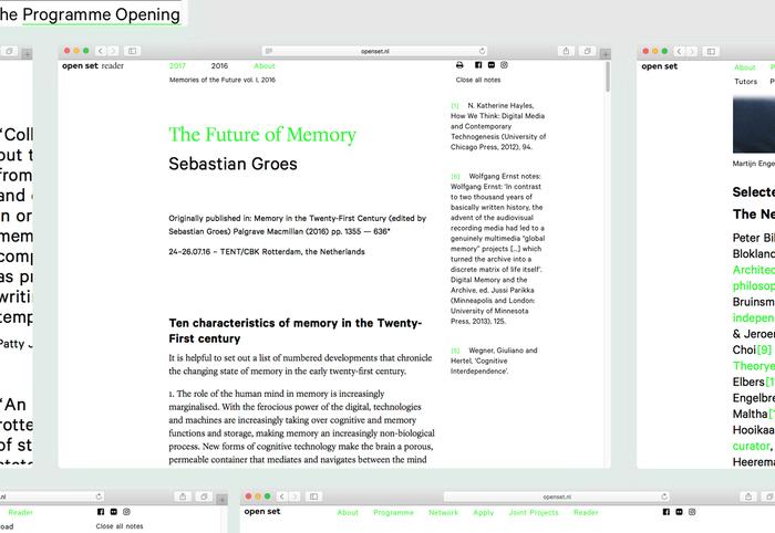 Open Set website and reader 6