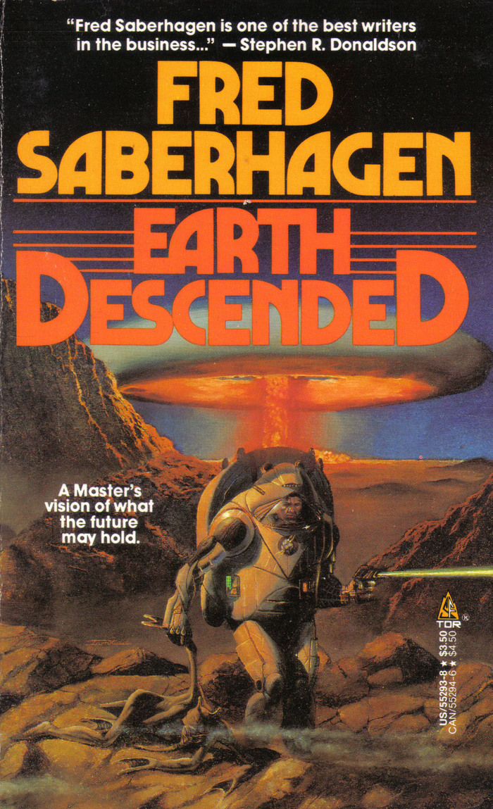 """Later edition by another publisher re-using the same type for the same author and a different book. The """"EndcapS"""" treatment has become a trope in mystery and science fiction, see e.g. Stranger Things."""
