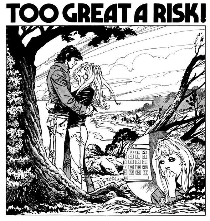 Too Great A Risk! drawn by Ian Gibson (source)