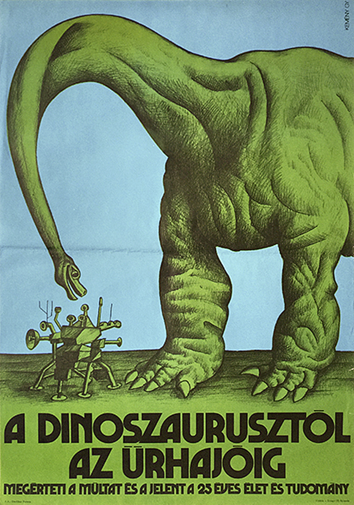 """From dinosaurs to spaceships"" poster"