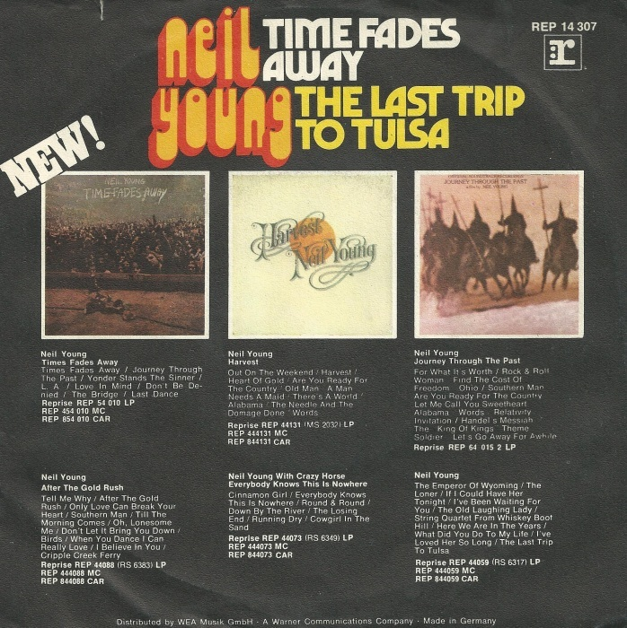 """Time Fades Away"" / ""The Last Trip To Tulsa"" – Neil Young 2"