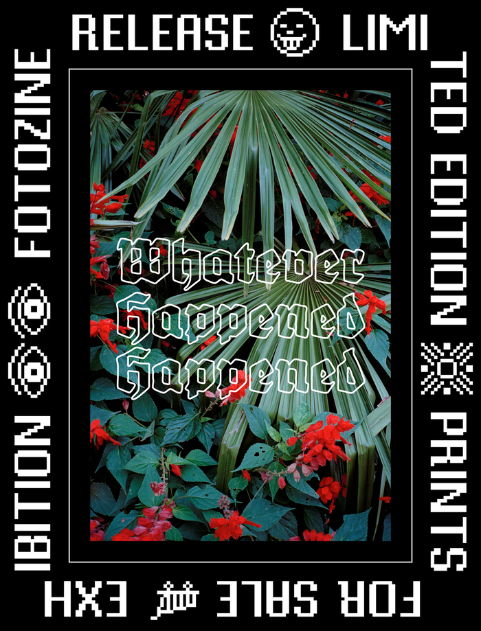 Whatever Happened Happened zine release poster