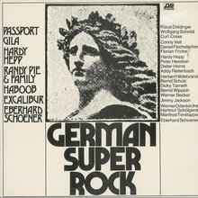 Various Artists – <cite>German Super Rock</cite> album art