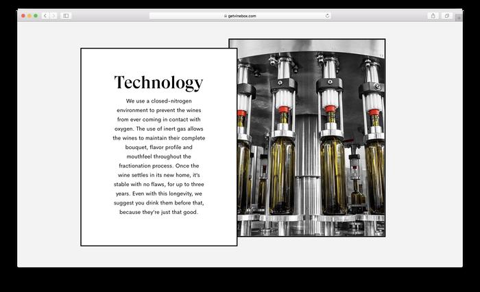 Vinebox website 2