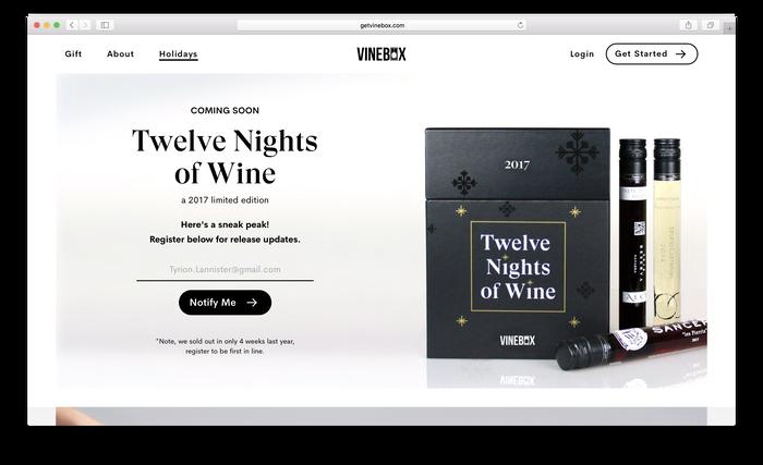 Vinebox website 4