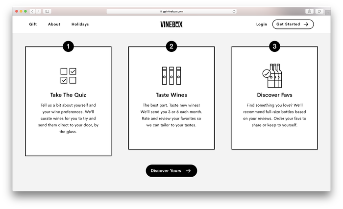 Vinebox website 5