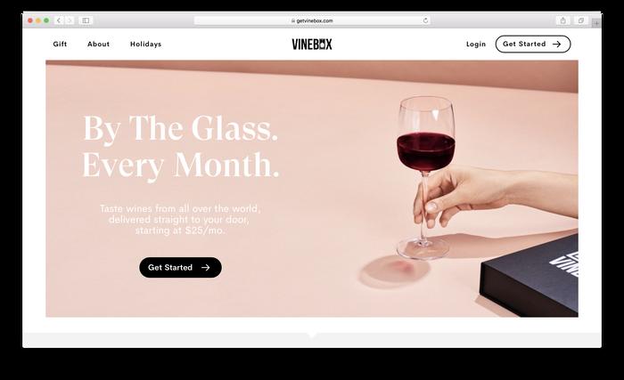 Vinebox website 1