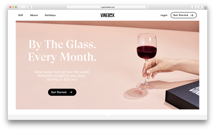 Vinebox website 1