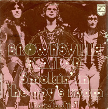 "Brownsville Station – ""Smokin' In The Boy's Room"" single covers"
