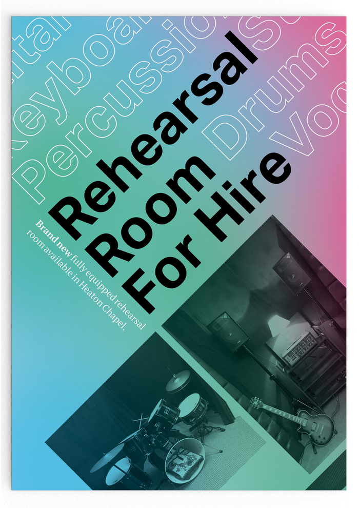 Rehearsal room advertisement flyer 1