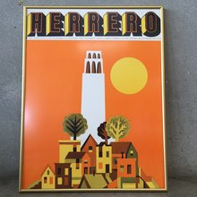 Poster for Lowell Herrero paintings show, Nut Tree, 1970