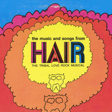 <cite>The Music and Songs from Hair </cite>album art