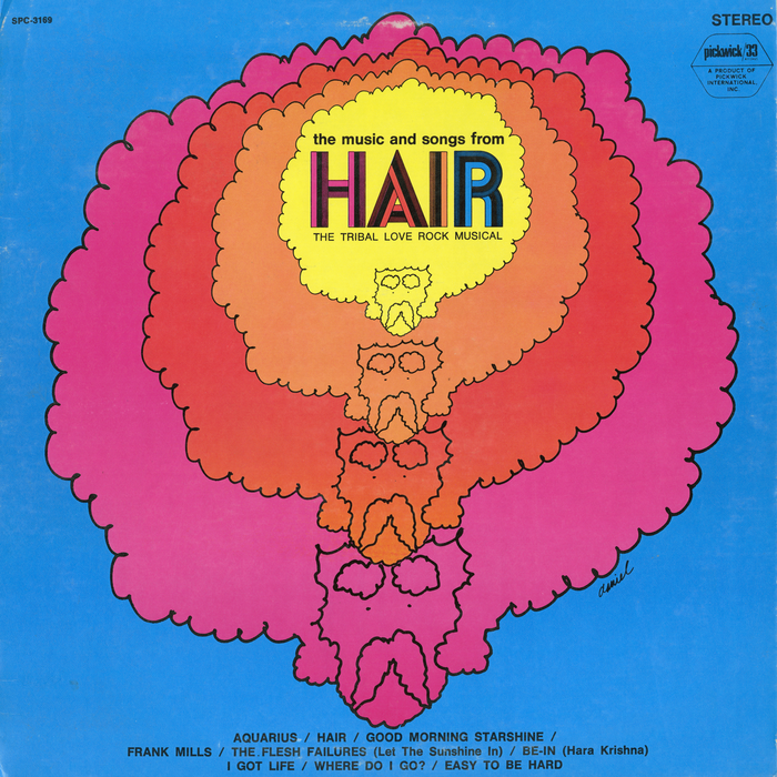The Music and Songs from Hair album art