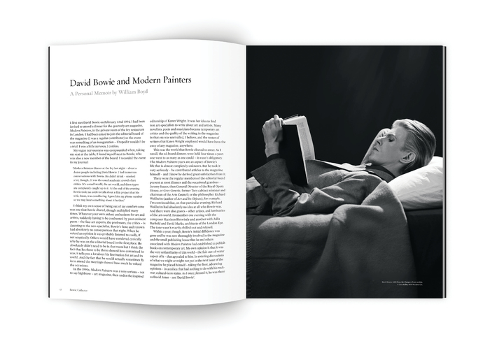 Bowie/Collector catalogue introduction spread. Headings in Requiem Fine and body text in Mercury Text G1