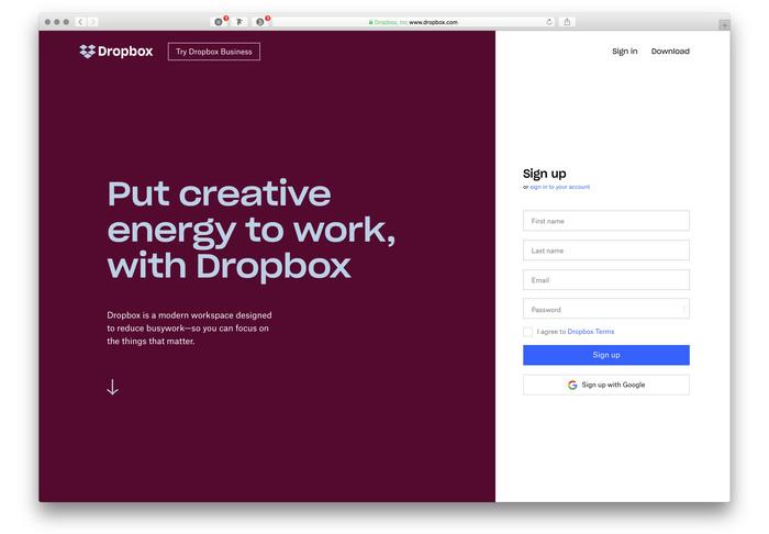 Dropbox identity (2017 redesign) 2