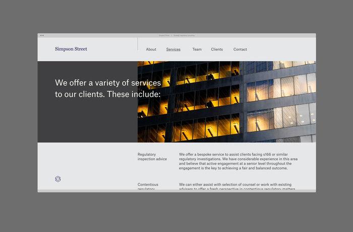 Simpson Street identity & website 2