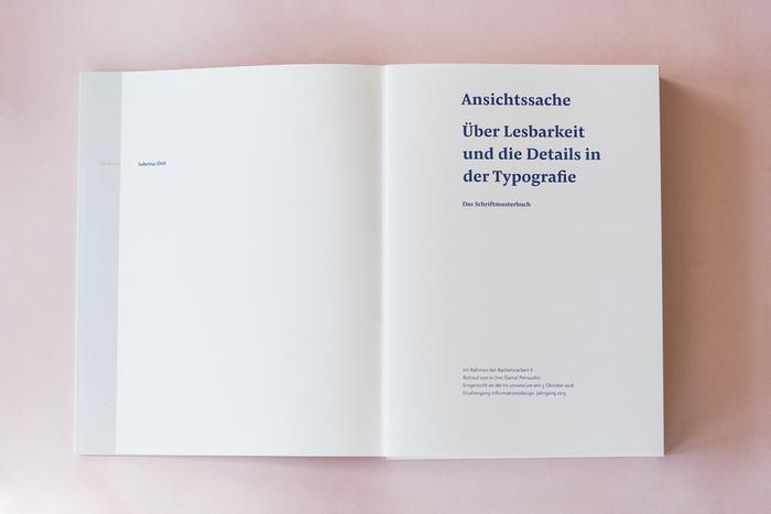 Ansichtssache – Über Lesbarkeit und die Details in der Typografie by Sabrina Öttl 3