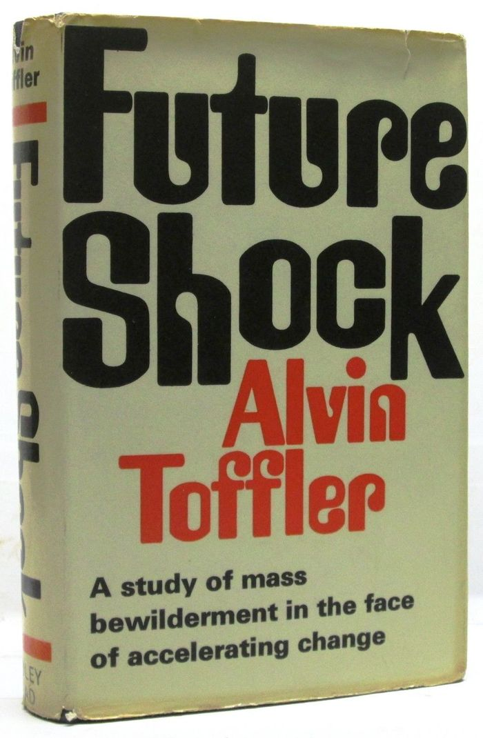 First UK edition, The Bodley Head Ltd, London, 1970. The letterforms were directly taken from the Random House jacket, but rearranged. The shifted 'oc' pair was presumably added as a visual analogy of the shock. The secondary face is Univers.