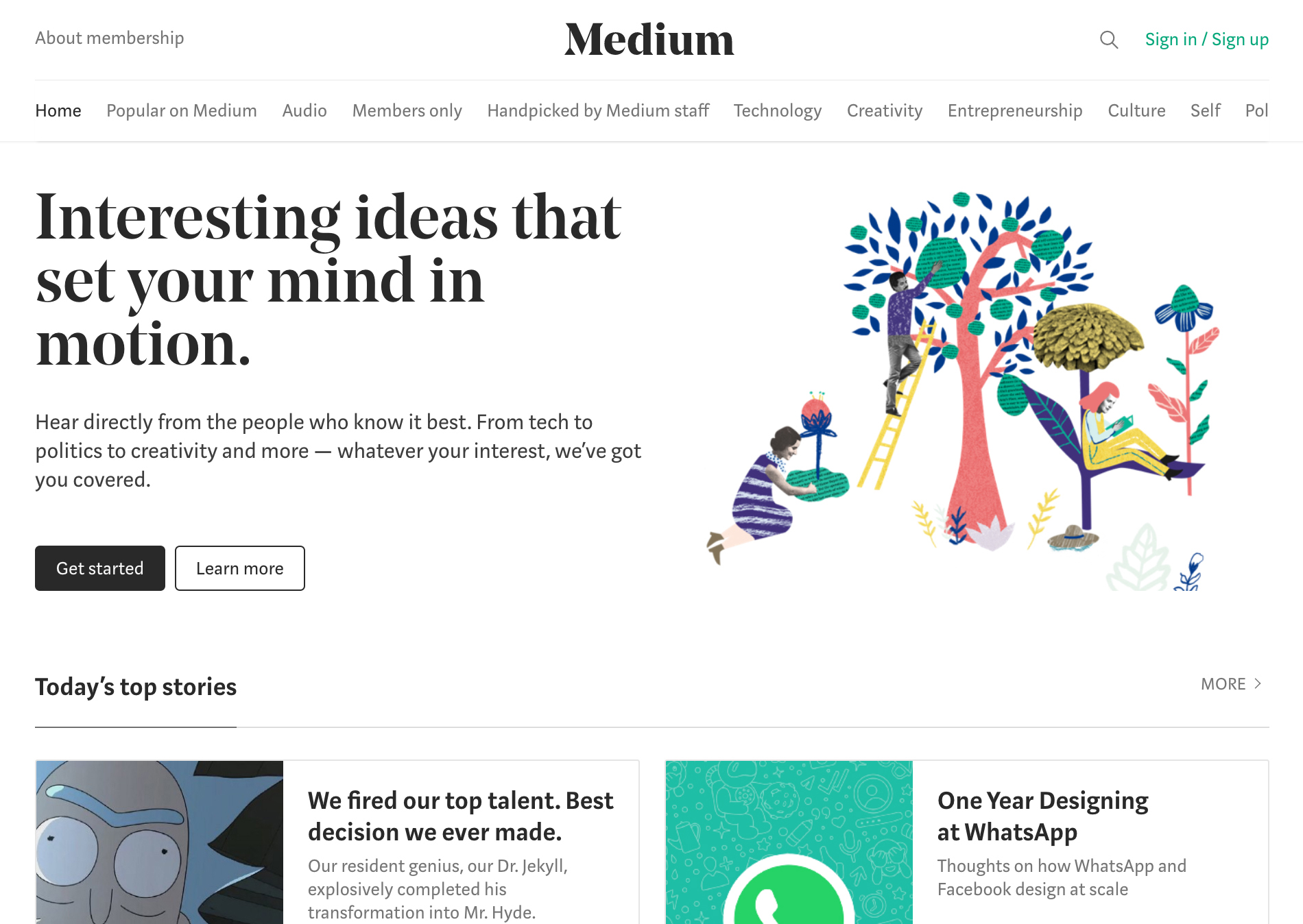 Medium com (2017) - Fonts In Use
